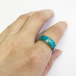 🌻Sterling Sliver Turquoise Band Ring 🌻